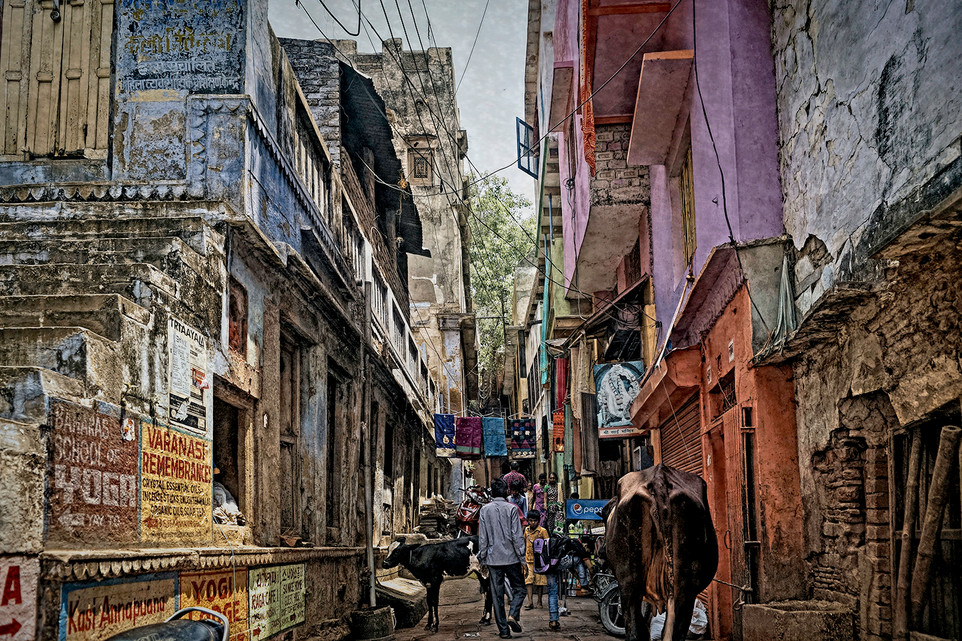 The Alley Ways of Old Varanasi, India