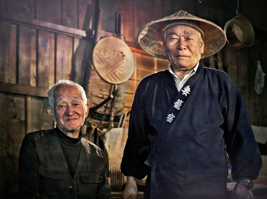 Master of the teahouse on the Nakasendo Trail, Japan