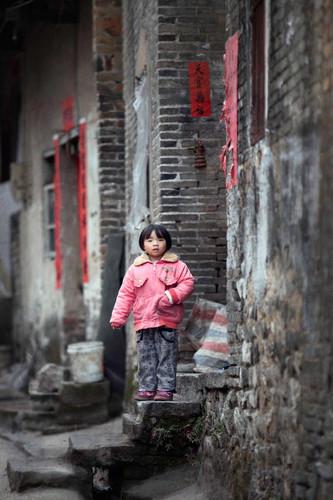 Gaze from the Porch; Zhangwu, China