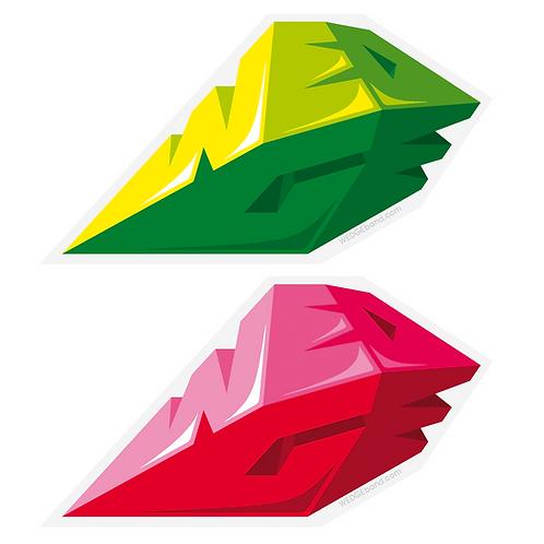 WEDGE Triptonite stickers