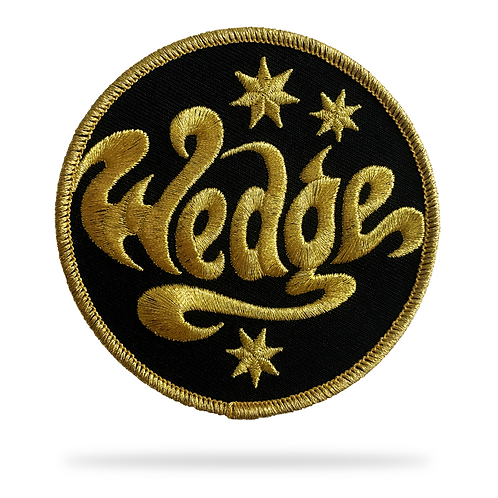 WEDGE patch (gold/black)