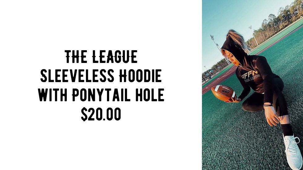 THE LEAGUE Sleeveless Hoodie with Ponytail hole