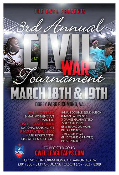 3rd Annual Civil War Tournament
