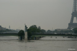 La Liberté flotte sur la Seine