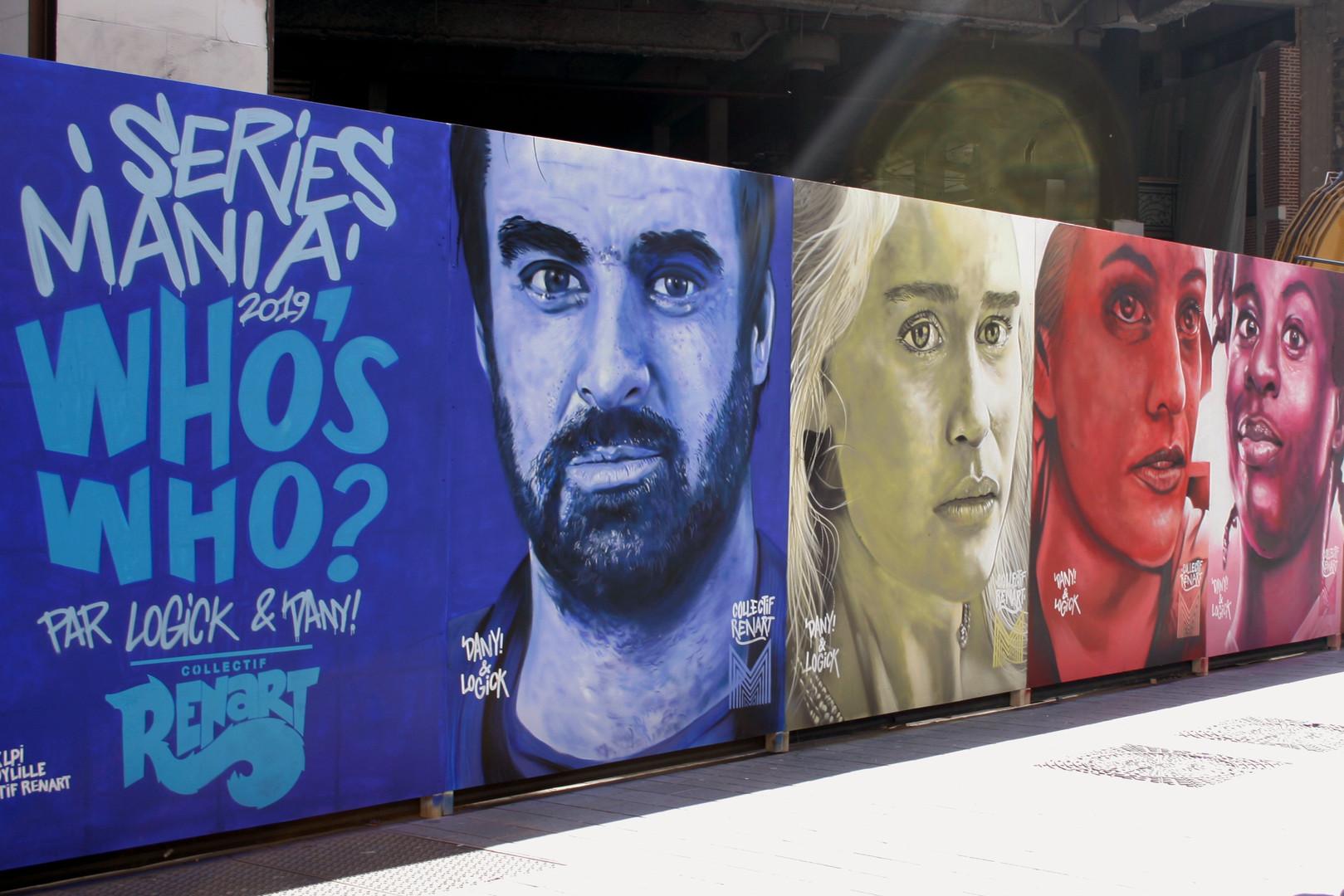 Les séries inspirent les street artistes comme ceux du collectif Renart, rue de Béthune