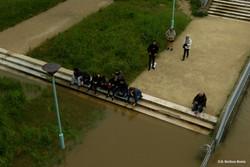 Le parc inondé