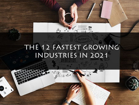 The 12 Fastest growing Industries in 2021