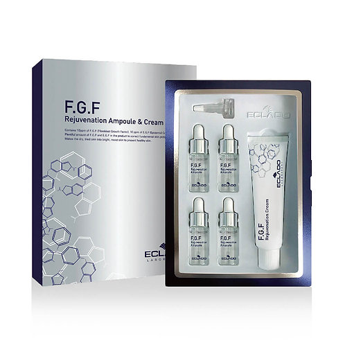 ECLADO FGF Rejuvenation Cream & Ampoule | Cream 5ml & Ampoule 10ml  x 4