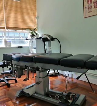 Clinic chiropractic room