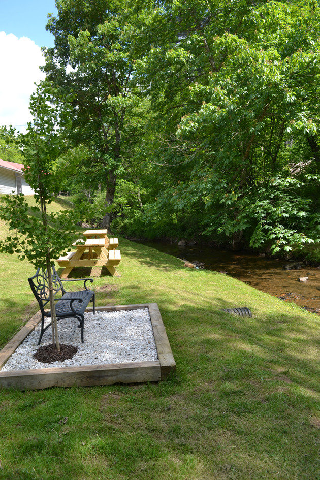 Picnic Tables & Memorial at the Cr