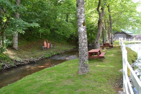 Picnic Tables at the Creek