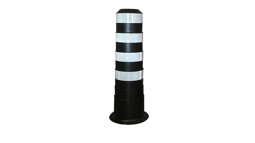 BIG Bollard - white stripes