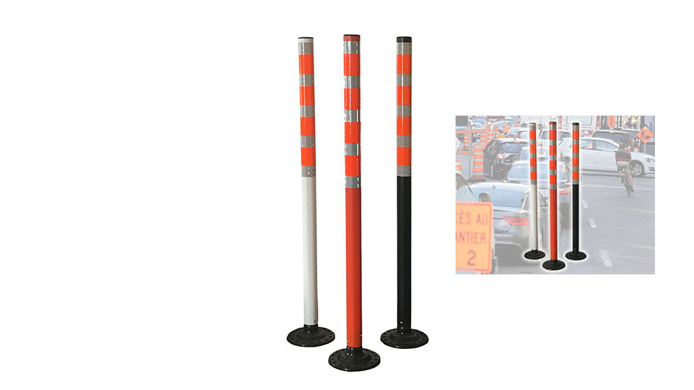 High Visibility Delineator with flexible base