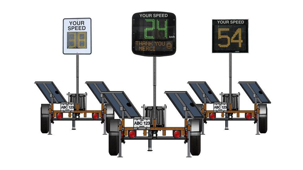 Trailer Mounted Radar Speed Display