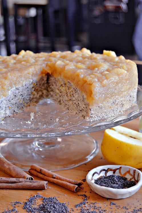 Apfel-Mohn-Torte (vegan)