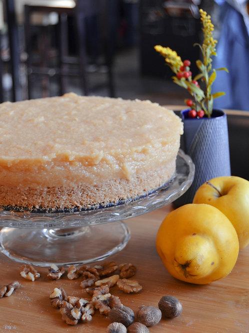Quitte-Birne-Mandel Torte (vegan)