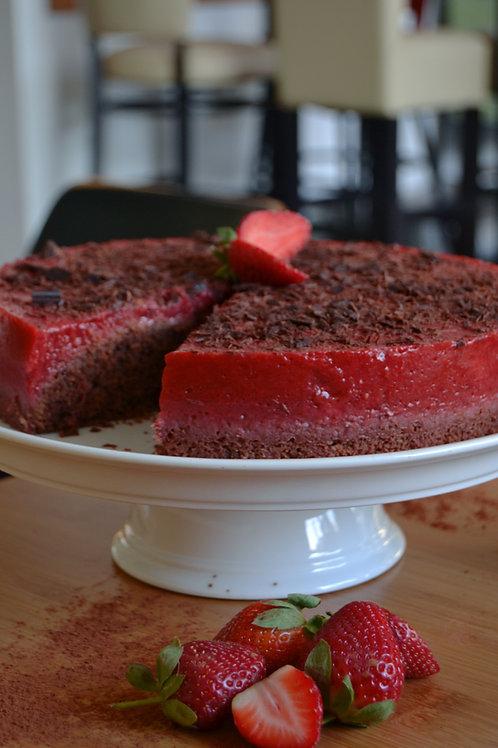 Erdbeere-Schoko-Torte (vegan)