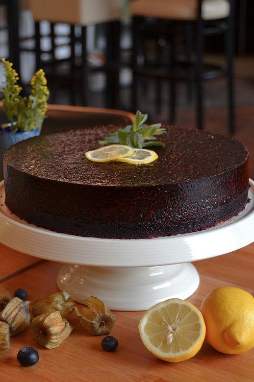 Holunder-Walnuss-Torte (vegan)