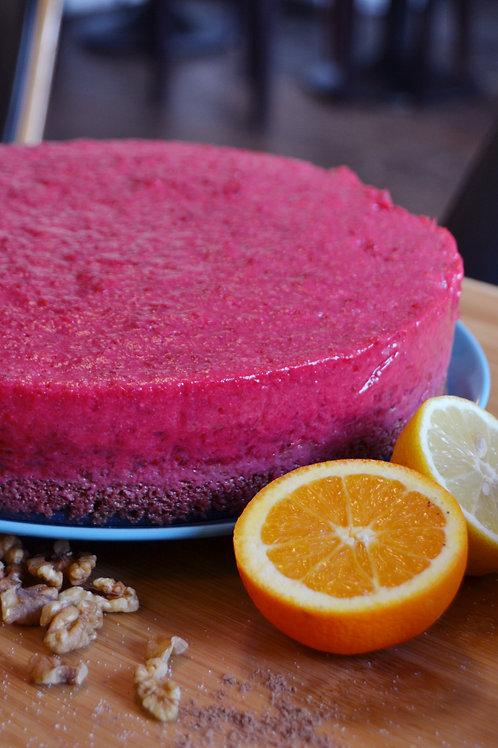 Ribisel-Schoko-Torte (vegan)