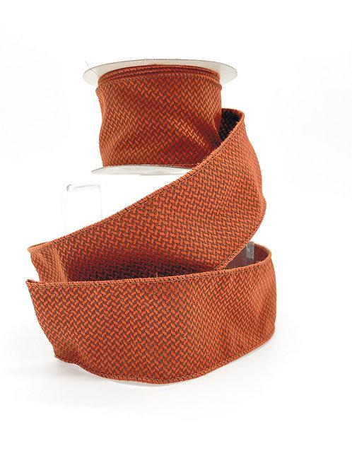 Copper/Rust Dobby Jacquard Ribbon