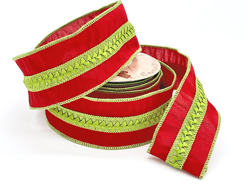 Red and Apple Green Ribbon