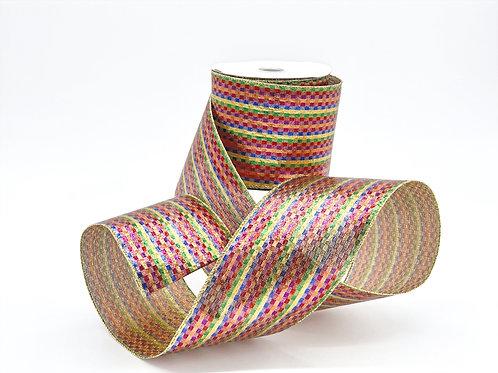 Jewel Tone Micro-Plaid Ribbon
