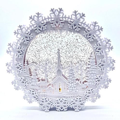 Church Scene Snow Globe