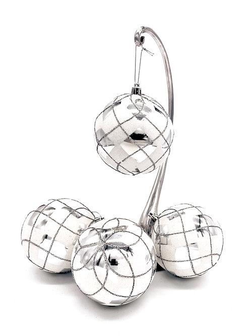 Set of 4 Argyle Ornaments