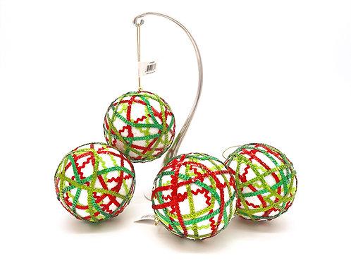 Set of 4 Rickrack Ornaments