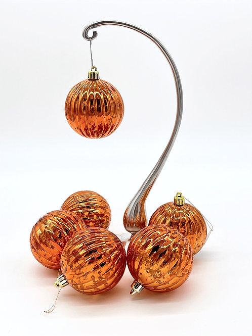 Set of 6 Copper Melon Ornaments
