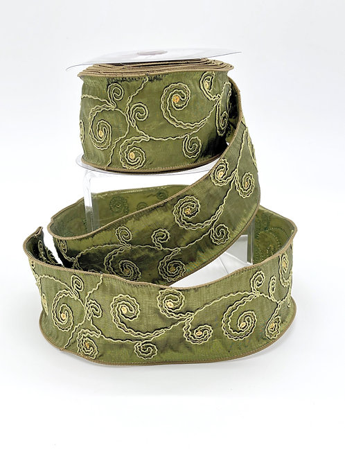 Fern Green Soutache Ribbon