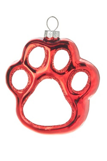 Red Dog Paw  Ornament