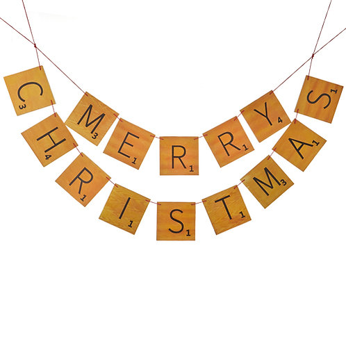 Merry Christmas Game Board Garland