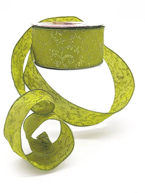 Apple Green Leaf Ribbon