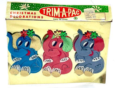 Trim-A-Pac Elephant Ornaments