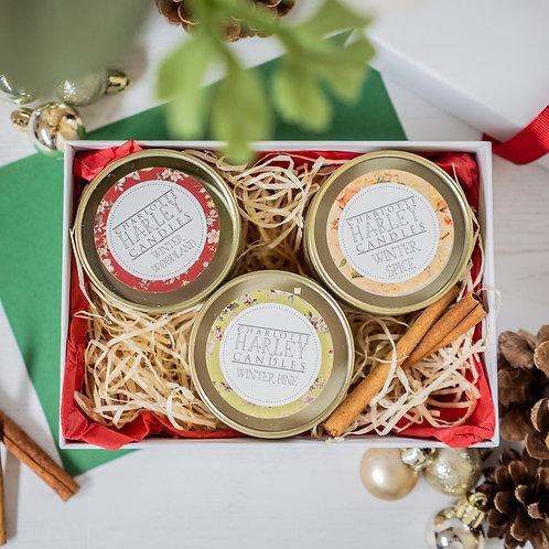 Festive Trio Mini Candle Gift Box