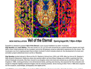 The Veil of the Eternal has moved to Superfine in Dumbo! through August