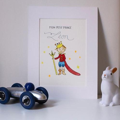 """Impression sous passe-partout calligraphiée Mon Petit Prince """"L'original"""""""