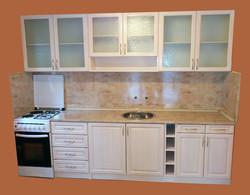 кухня байц прозрачно бяло