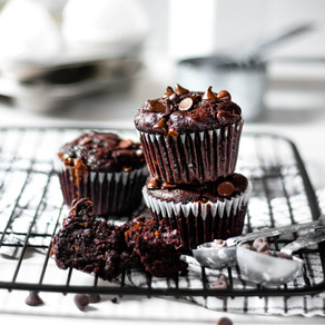 Muffins double chocolat aux courgettes