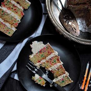 Gâteau confettis