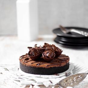Gâteau au fromage au chocolat et à la noisette