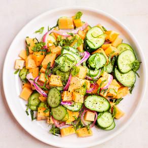 Salade concombre et cantaloup