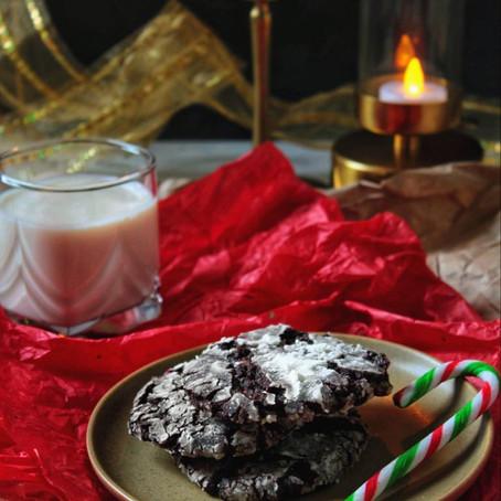 Biscuits craquants au chocolat et à la canne de bonbon