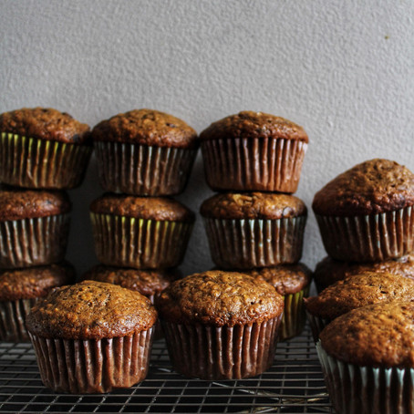 banana & coffee muffins