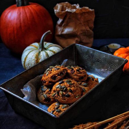 Biscuits moelleux à la citrouille et au chocolat
