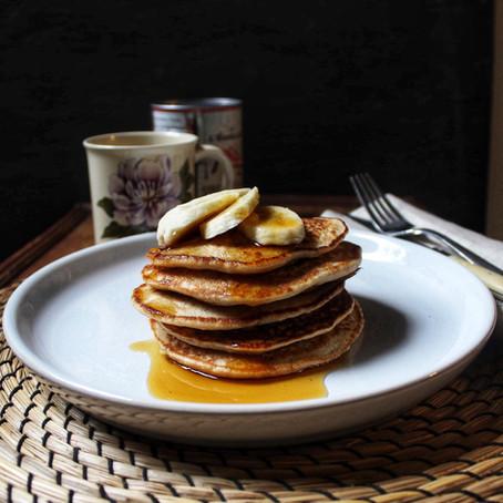 Pancakes banane et avoine