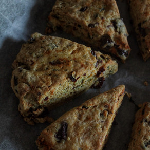 Sundried tomatoes, kalamata olives and basil scones