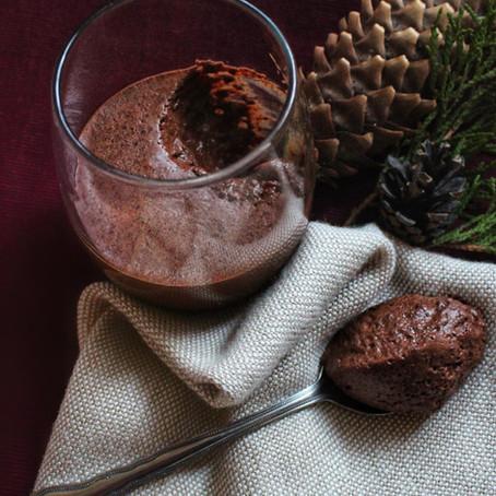 Mousse au chocolat à la menthe poivrée