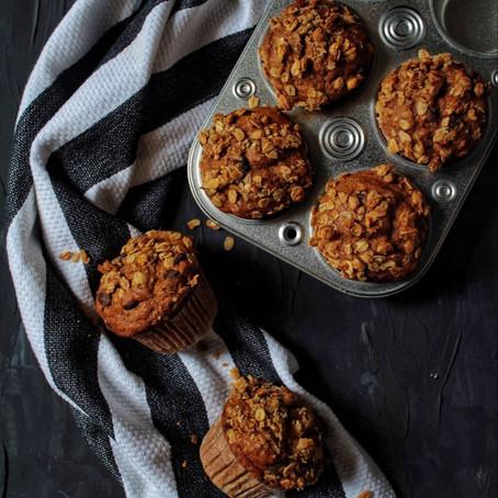 Muffins banane & citrouille au chocolat et à la cannelle